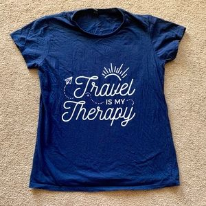 Travel is my Therapy screen print T-shirt